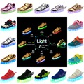 2016 Fashion Kids Boys Girls LED Shoes Luminous Skateboard Shoes Night Light Casual Sneakers With USB