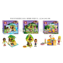 3PCS/LOT SY151 Girl Friends Building Blocks Sets Minifigure DIY Bricks Building Blocks Toys PVC Action Mini Figures Toys