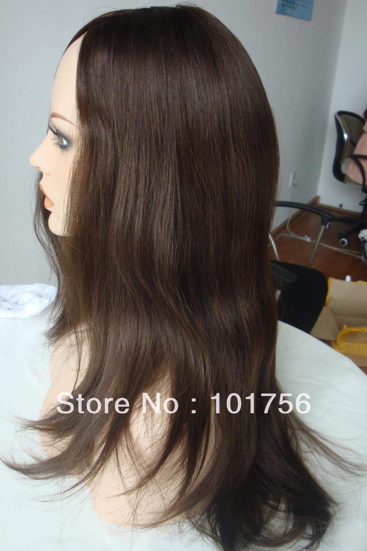 Hot Sale Natural Color Virgin European Hair Jewish Wig(China (Mainland))