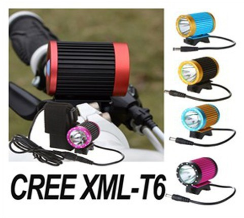 Sale New CREE XML-T6 LED Bike Light Accessories Rechargeable Bicycle Front Lamp Set 6000mah 4 Modes for Camping Fishing Hunting