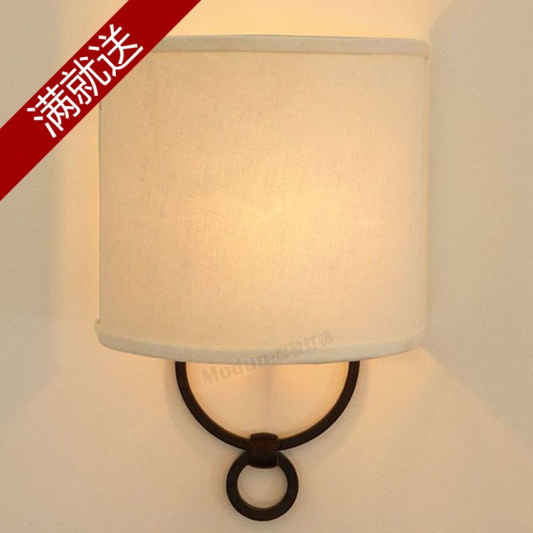 Country Wall Lights Country Fabric Wall Lamp