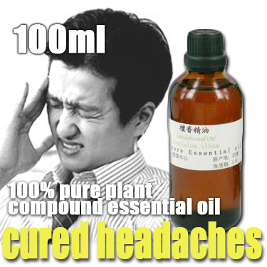 Free shopping 100% pure plant compound essential oils cured headaches Oil 100ml body massage essential oil to the head wind pain(China (Mainland))