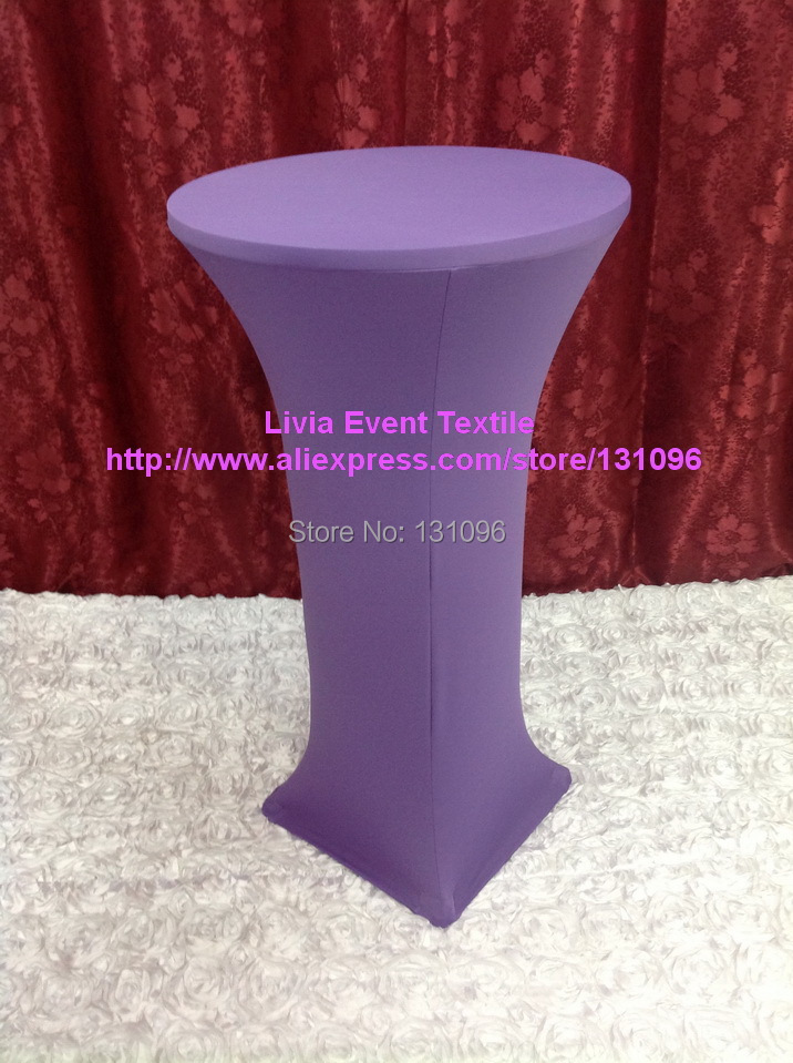 10pcs Extra Larger #9 Lavender Lycra Cocktail Table Cover ,Lycra Dry Bar Cover Wedding Events &Party Decoration(China (Mainland))