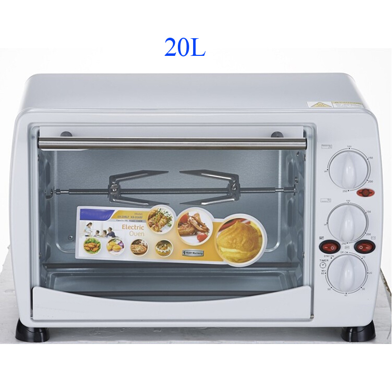 WanHe Electric oven 20L Bread ove electric toaster oven 1200W 360 degree rotary roasting fork To toast bread Baked pizza(China (Mainland))