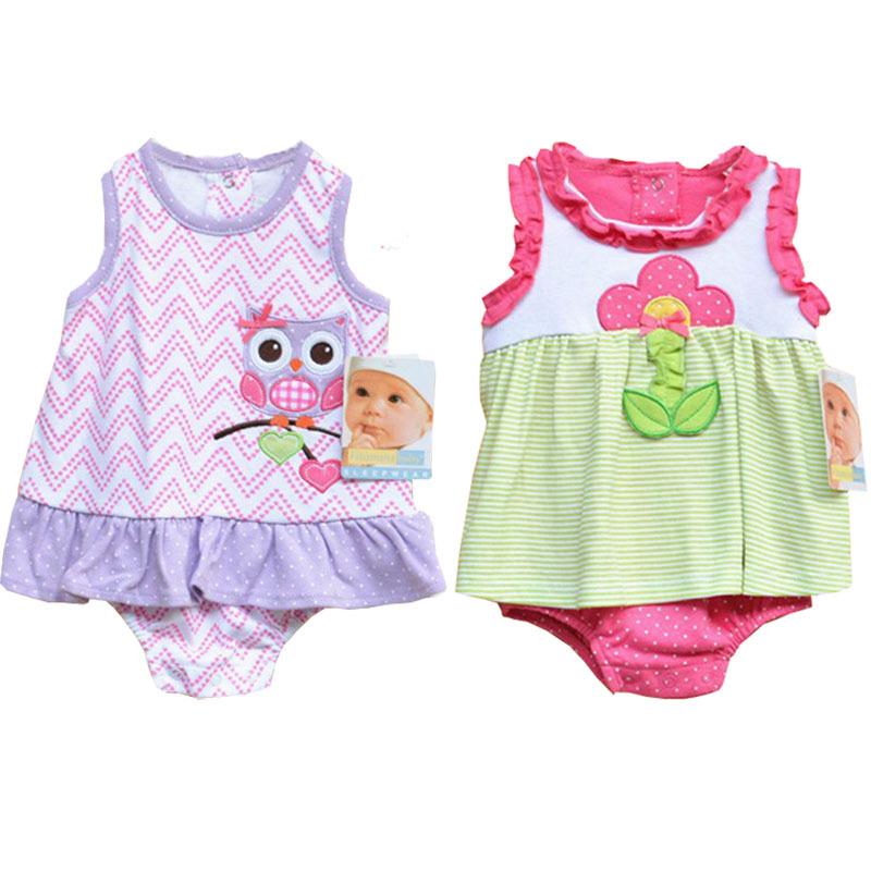 Newborn Baby Clothes Roupas BEBES BABY ROMPER Dress 0 9M Cartoon Rompers Recem Nascido Menina Baby