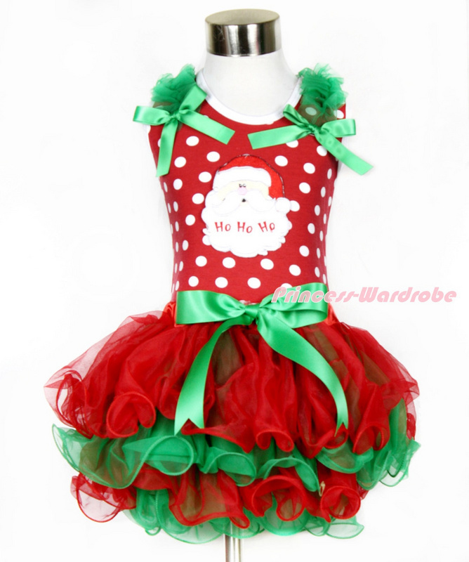 New 2015 Baby Girl Christmas Dress Girl's Short Sleeve Merry Christmas Dress Kids Cotton Dot Casual Dress Girls Tutu Dress(China (Mainland))
