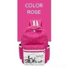 Korean Casual Women Bookbags Princess Canvas Printing Backpack Sets Cute School Bags Backpacks for Teenage Girls Shoulder Bag(China (Mainland))