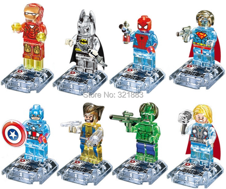 Dagao no.842 8Super Heroes Avengers marvel crystal clear figures Building Blocks Sets Minifigure Educational DIY baby toys - F & C Store store