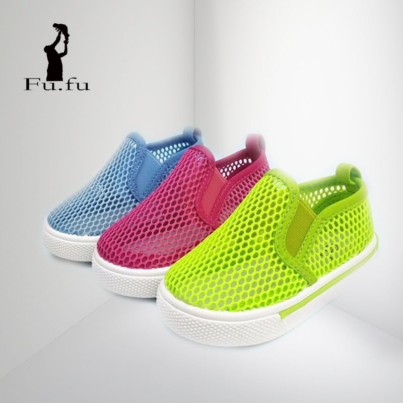 2014 cutout mesh breathable half sandals candy color child hole shoes(China (Mainland))