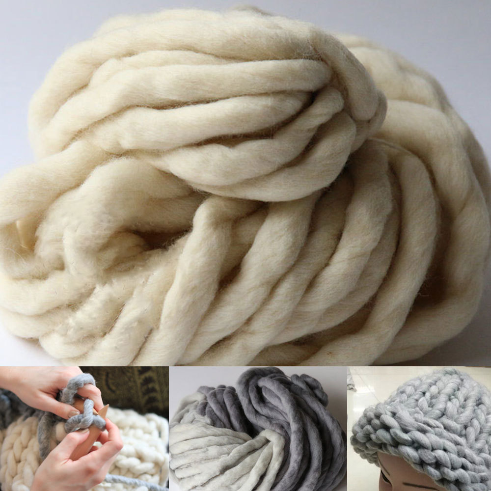 Thick Yarn For knitting High Grade Wool yarn crochet Fashion Thick Yarn hand ...