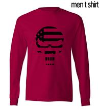 American Sniper Chris Kyle Punisher Skull Navy Seal Team Legend 2016 new autumn men's long sleeve T-shirts hip hop men t shirt(China (Mainland))