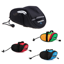 New Arrival Roswheel Outdoor Cycling Mountain Bike Bicycle Saddle Bag Back Seat Tail Pouch Package Black