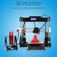 Newest 210*210*240mm 3d-metal-printer High Precision DIY 3d Printer kit with marlin firmware 8G Card LCD Screem 20M Filament