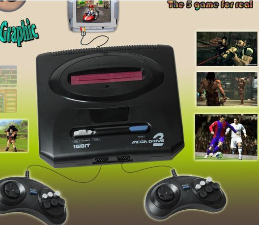 sega in 16 bit video game Light and convenient video games consoles and video games for cheap are suggested by jxd_digital, buy some video games online if you need new 16bit sega mega drive md2 family tv video game console player retro video game console with 2 controllers pal/ ntsc output, and enjoy your easy games.