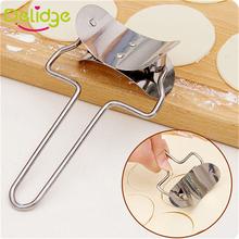 1 pc 7 cm Dumpling Mold Stainless Steel Dumpling Skin Cutter Machine Pie Ravioli Mould Circle Dumpling Skin Device(China (Mainland))