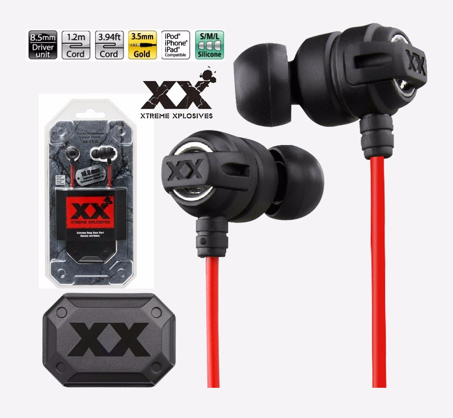 HA-FX1X  Xtremed Xplosives Earphones In-Ear Super Deep Bass Headset Stereo 3.5 mm Gaming Auriculares For Xiaomi IPhone MP3/4 PC