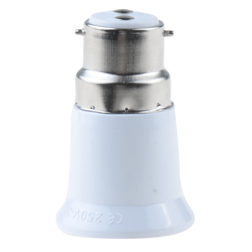 Big Promotions 1Pcs B22 to E27 Fireproof Material lamp Holder Converter Socket light Bulb Base type Adapter VED63 P(China (Mainland))