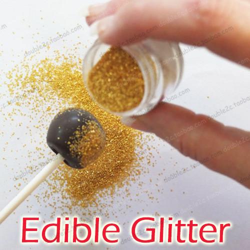 Edible cake glitter,golden edible sprinkles for cake ...