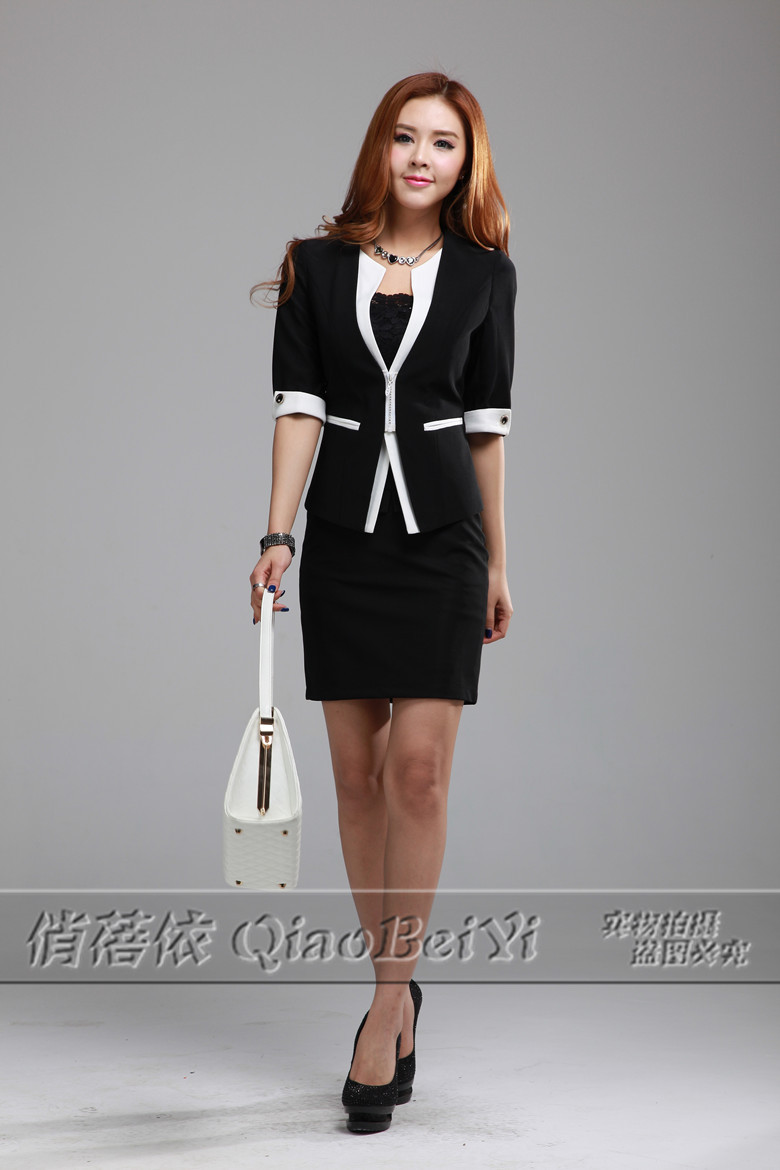 Simple 2013 New Fall Formal Women Skirt Suits Business Office Ladies Coat And