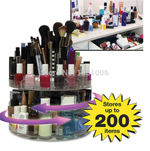 High quality cosmetic storage box for women accessorie, makeup organizer,360 degree rotates,hold up to 200 items,assemble CC003(China (Mainland))