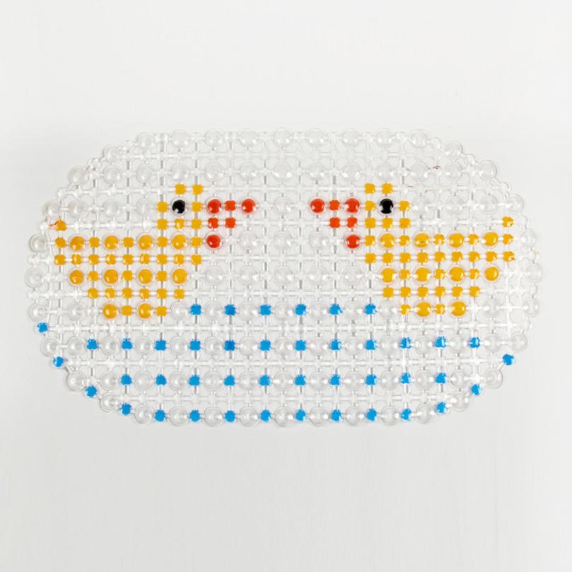 New design PVC Bath Mat Shower Bathroom Non Slip Rubber Mat Antiskid Pad Slip Rubber Mat Massage Suction Bath Free Shipping(China (Mainland))