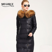MIEGOFCE 2016 New Winter Collection Women Down Coat Jacket Warm Woman Down Parka with a Real Raccoon Fur Winter Coat Women(China (Mainland))