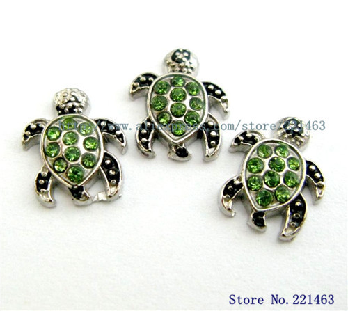 Free shipping Hot sell Wholesale 10pcs Floating Locket CharmsSea Turtle FC631 fit living memory photo locket with glass(China (Mainland))