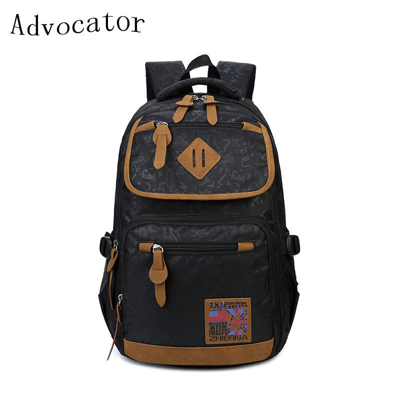 Large Capacity Printing School Backpack Waterproof Nylon Zipper Backpack Multifunction Laptop Backpack Causal Travel Bag Unisex(China (Mainland))