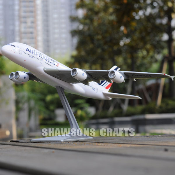 PLANE MODEL AIRBUS A380 SCALE 1/250 AEROBUS AIRLINER AIR FRANCE REPLICA(China (Mainland))
