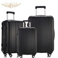 Black Color ABS PC Travel Business Carry on Luggage Suitcase 20 24 28 Upright Durable Cabin