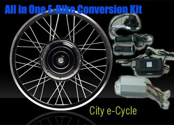 Free shipping! 48v 10ah LiFePO4 battery+LED light +48v 1000w electric bike conversion kit with front wheel