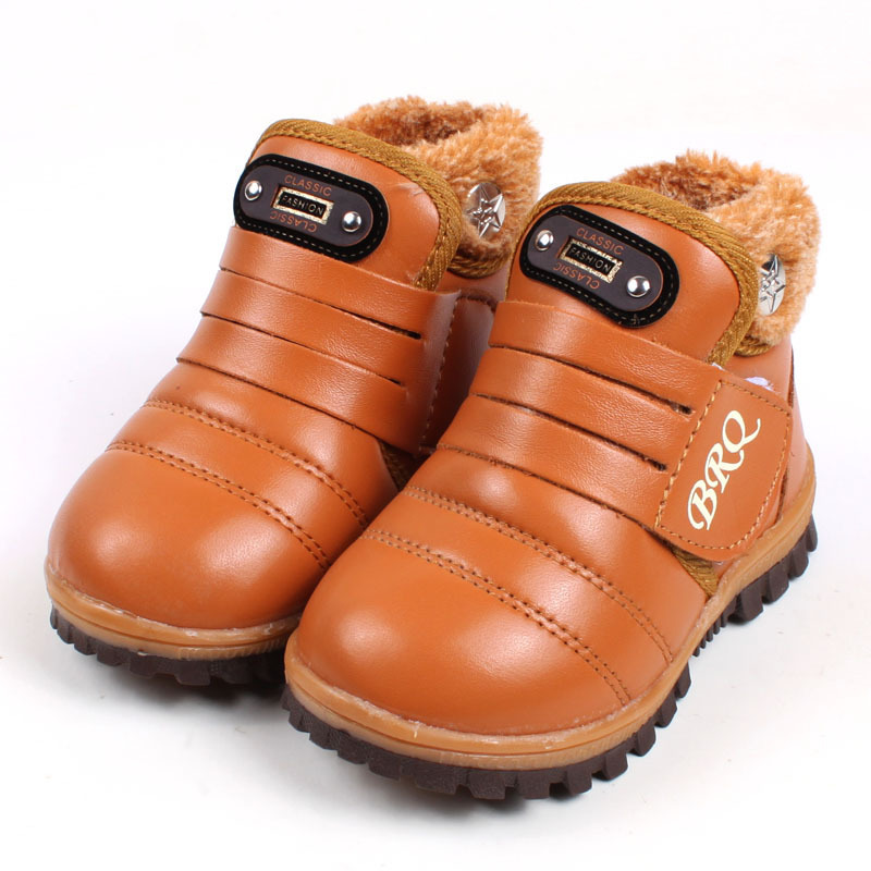 2015 Fashion Kids Winter Snow Boots Casual Candy Color Children Boots Plus Velvet Boys Girls Boots Shoes Sneakers X06(China (Mainland))