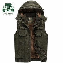 AFS JEEP Falow High Quality Cashmere Inside Vest,100% Cotton Winter Man's Cargo Thickness Sleeveless Jacket Overall Vest(China (Mainland))