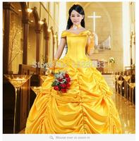 Free Shipping New Arrival Halloween Cosplay Fantasia Women Costume The Beauty And The Beast Adult Princess Belle Costume