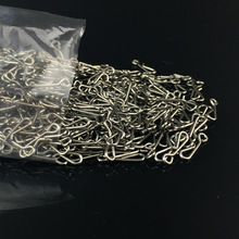 100pcs Gear stainless steel quickdraw outdoor engaging fishy snap pin connector ring Fishing Accessories bulk(China (Mainland))