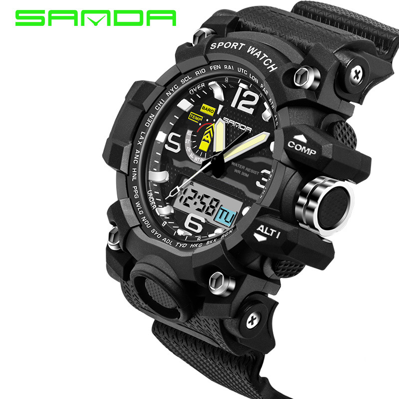 online buy whole mens wrist watches g shock from mens 2016 new fashion brand sanda digital watch g style outdoor sports shock military digital watch
