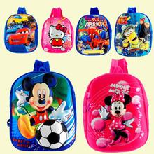 Hot 3D stereo kinder plüsch rucksack Junge spider man Mickey auto spielzeug pack Mädchen Minnie Hallo Kitty süßigkeit packung kinder taschen(China (Mainland))