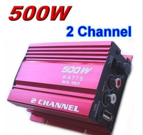 Mini Digital Audio sound subwoofer Power Amplifier Auto Car Motorcycle Boat Home Hi-Fi Stereo MP3 AMP Red - USBONLINEDIRECT Communication Co., Ltd. store