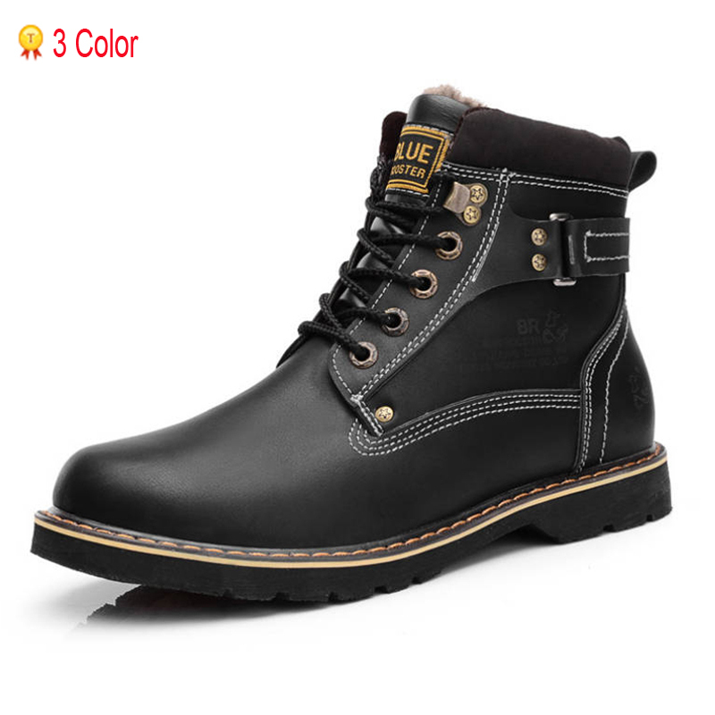 Suede Leather Man Boots Winter Ankle 2014 Fashion British Super Warm Outdoor Snow Riding Rubber Bota Jogging Shoes Hunting 38-44<br>