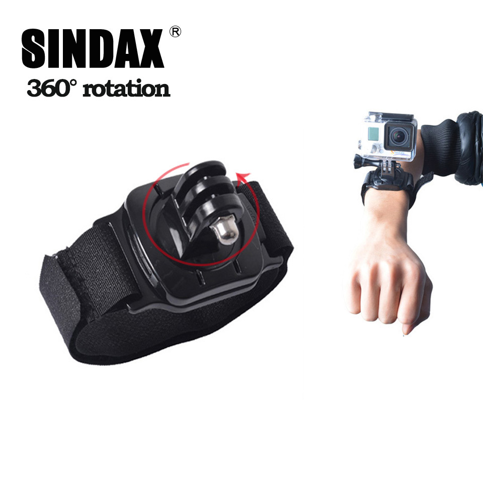 For Gopro Hero Accessories Wrist Belt Strap Mount 360 Degree Rotation Wrist Strap Band For Gopro sj4000 Xiami yi Action Camera(China (Mainland))