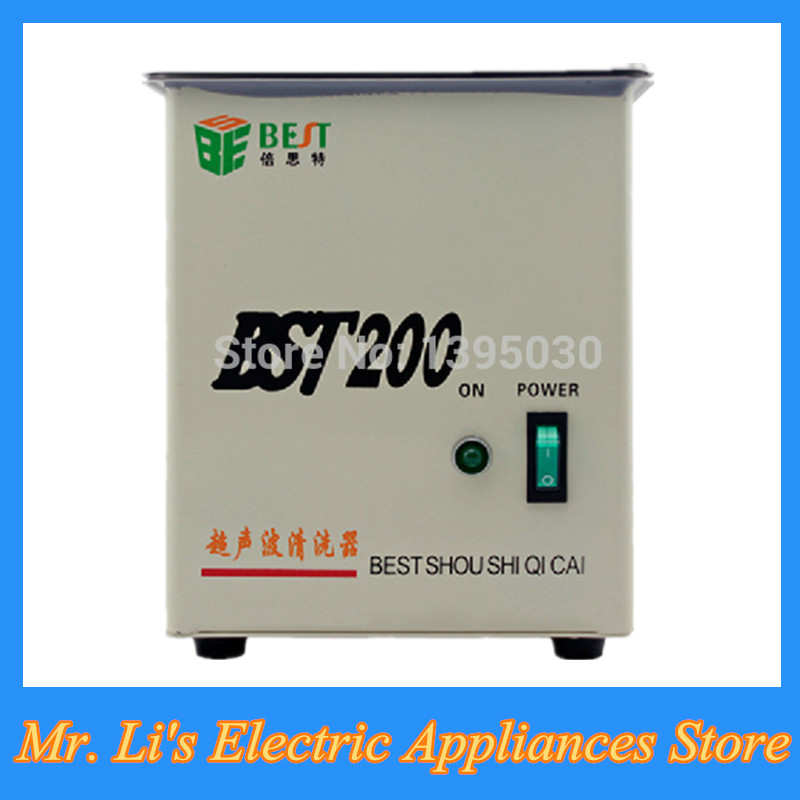 Stainless Steel Jewelry Cleaning Machine Household Practical Ultrasonic Cleaner from China Manufacturers BST-200(China (Mainland))
