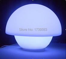 Free shipping Rechargeable waterproof LED Mushroom lamp Glowing Remote control Umbrella Table lamp LED Desk Lamp Light