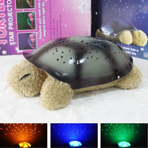 2015 Special Offer Rushed Animal Aaa Projector No Night Light Foreign Trade Explosion Models Turtle Plush Toy Light Sleep Lamp(China (Mainland))