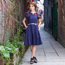 rockabilly dress desigual plus size dresses linen dames jurken womens maxi robes femmes vintage mori girl bohemian ladies 3229