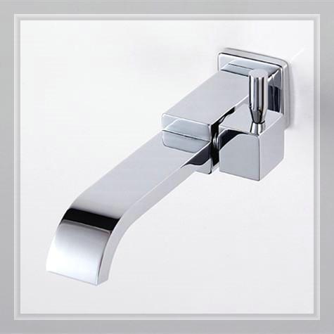 Brass Chrome wall mounted mop sink faucet & mop pool faucet waterfall glass wall faucet handle mixer(China (Mainland))
