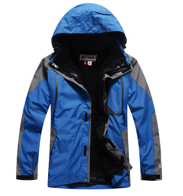 Man's 2in1 Fleece softshell Lining Skiing 2-Layer Winter Outdoor snowboard Waterproof Windproof outerwear coats Jackets suit(China (Mainland))
