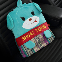 Cartoon pillow quilt and plush toy office nap backpack is the automobile air conditioning blanket cushion(China (Mainland))