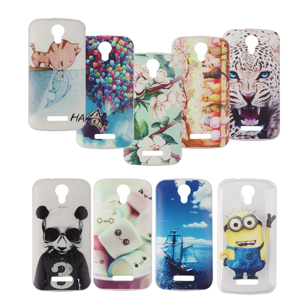 New Fashion Soft Silicone Lovely Cartoon Mobile Phone Skin case For DOOGEE X3 4.5inch smartphone back cover,1pc(China (Mainland))