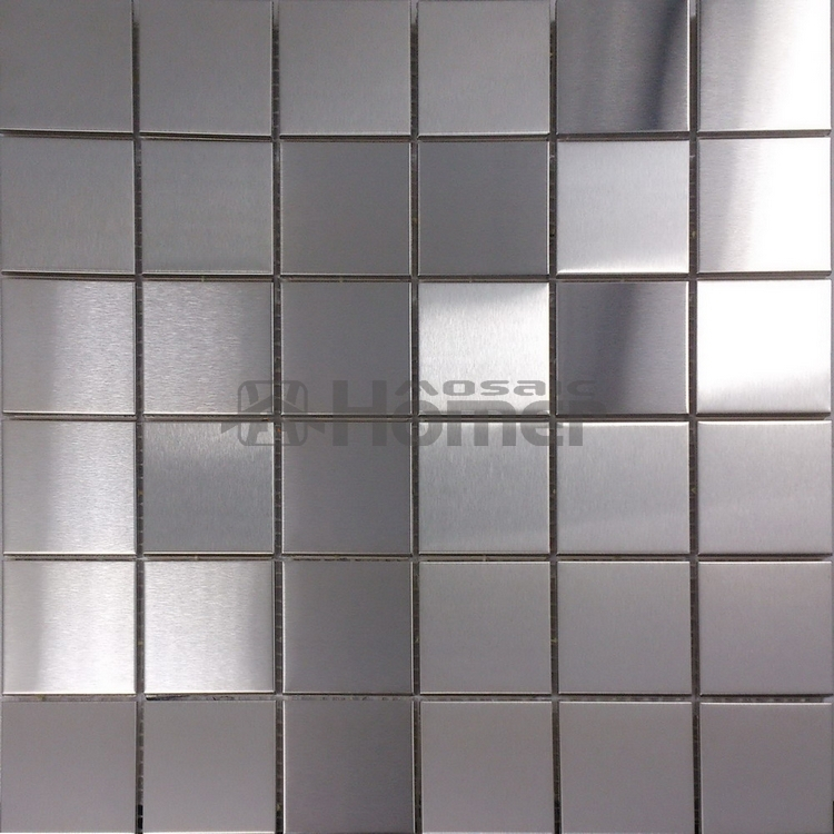 Metallic Effect Kitchen Wall Tiles. Hellion Silver Metallic Effect ...