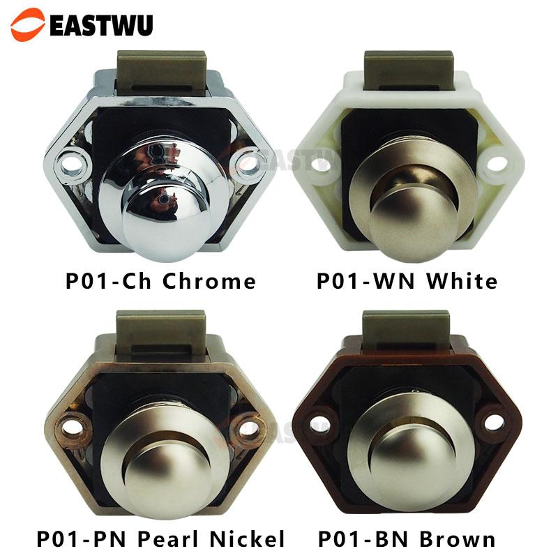 Mini push lock knob Diameter 20mm RV Caravan Boat Motor home cupboard Push Latch(China (Mainland))